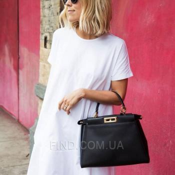 Женская сумка Fendi Peekaboo Iconic Black (2666) реплика