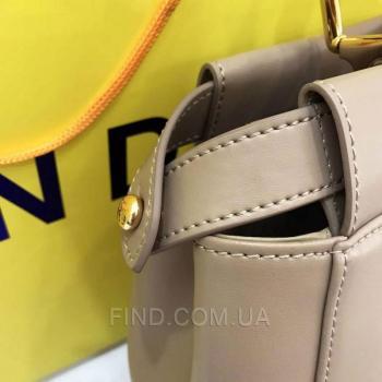 Женская сумка Fendi Peekaboo Large Dark Biege (2663) реплика
