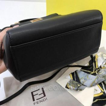 Женская сумка Fendi Peekaboo Medium Satchel Black (2655) реплика