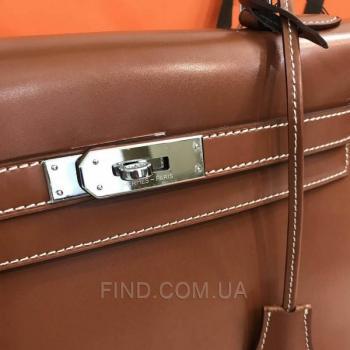 Женская сумка Hermes Kelly Brown 32 cm (3791) реплика