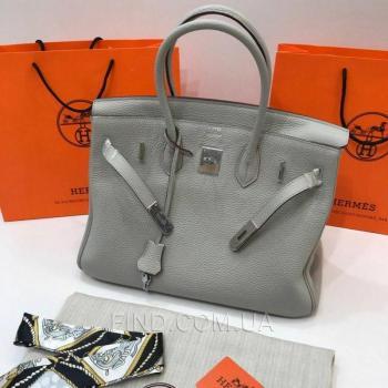 Женская сумка Hermes Birkin Gris Perle 35 cm (3764) реплика