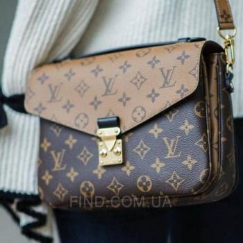 Женская сумка Louis Vuitton Pochette Metis Monogram Reverse (4163) реплика