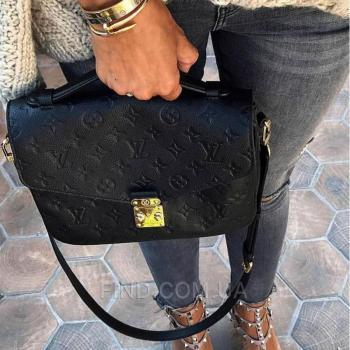 Женская сумка Louis Vuitton Pochette Metis Empreinte Black (4162) реплика