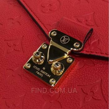 Женская сумка Louis Vuitton Pochette Metis Empreinte Red (4161) реплика
