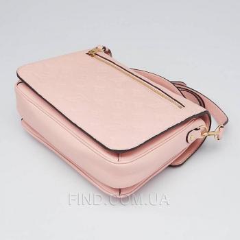 Женская сумка Louis Vuitton Pochette Metis Empreinte Rose Poudre (4158) реплика