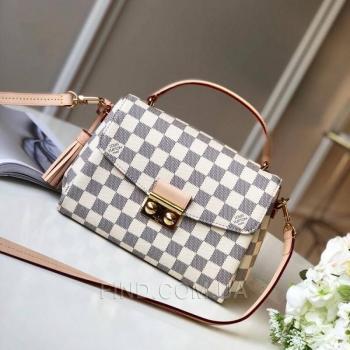 Женская сумка Louis Vuitton Croisette Damier Azur Canvas Bag (4051) реплика