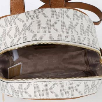 Женский рюкзак Michael Kors Rhea Signature Backpack Vanilla (5762) реплика