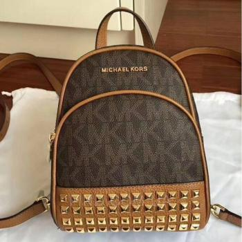 Женский рюкзак Michael Kors Abbey Signature Studded Backpack (5757) реплика