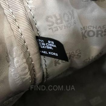 Женский рюкзак Michael Kors Abbey Signature Studded Backpack (5757) реплика