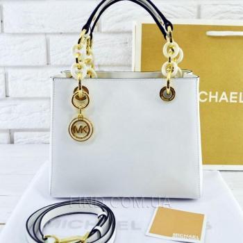 Женская сумка Michael Kors Cynthia Small White (5725) реплика