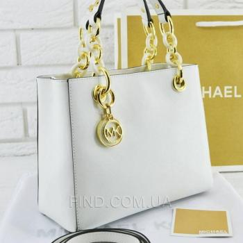Женская сумка Michael Kors Cynthia Small White (5725) реплика