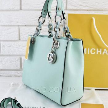 Женская сумка Michael Kors Cynthia Small Satchel Mint (5721) реплика