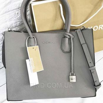 Женская сумка Michael Kors Mercer Large Grey (5709) реплика
