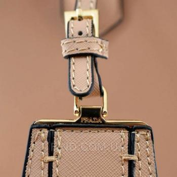 Женская сумка Prada Cuir Double Bag Biege (6932) реплика