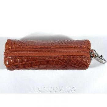 Ключница для длинных ключей из кожи крокодила River (OCMC 32 cognac)
