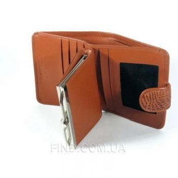 Женский кошелек из кожи крокодила River (PCM 71-H Cognac)