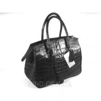 Женская сумка из кожи крокодила River (BCM 393 black)