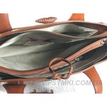 Женская сумка из кожи крокодила River (BCM 701 Cognac)
