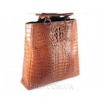 Женская сумка из кожи крокодила River (BCM 592-3 Cognac)