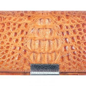 Мужская барсетка из кожи крокодила River (MCM 8 Tan)