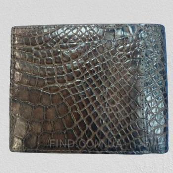 Мужской кошелек из кожи крокодила RIVER (WW 061 Brown)