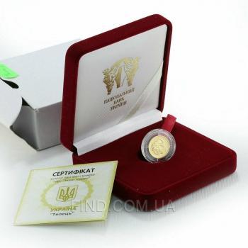 Золотая монета знака зодиака Телец