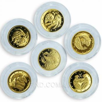 Cувенирный набор золотых монет Знаки Зодиака