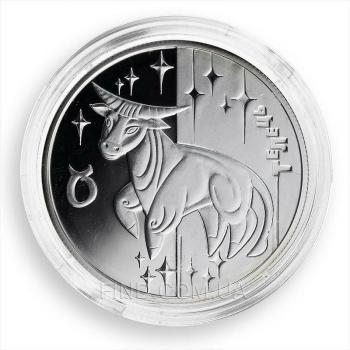 Серебряная монета знака зодиака Телец