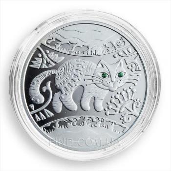 Серебряная монета Год Кота (Кролика, Зайца)