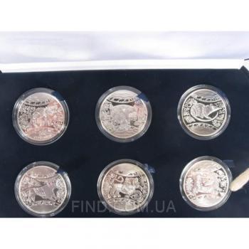 Cувенирный набор серебряных монет Восточный календарь