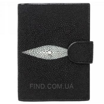 Портмоне для паспорта и документов из кожи ската (STP 9001 Black)