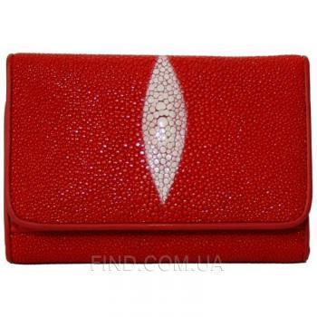 Женский кошелек из кожи ската (ST 63 Fire Red)