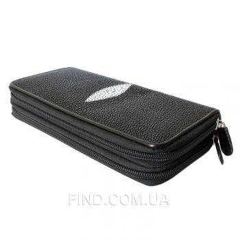 Женский кошелек из кожи ската (ST 15 EX Black)