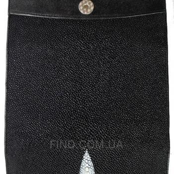 Женский кошелек из кожи ската (ST 52 Black)