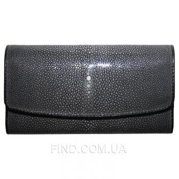 Женский кошелек из кожи ската (ST 52 SA Black)