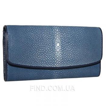 Женский кошелек из кожи ската (ST 52 SA Blue)