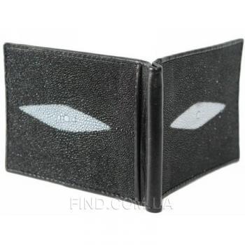 Зажим для купюр из кожи ската (STMC 02 Black)