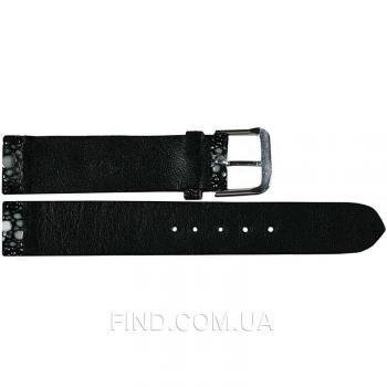 Ремешок для часов из кожи ската (STWS 03 Black)