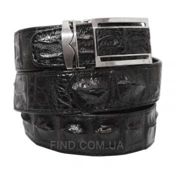 Мужской ремень из кожи крокодила (105 ALB-B Black)