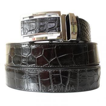 Ремень из кожи сиамского крокодила (105 ALB-B Siam Belly Black)