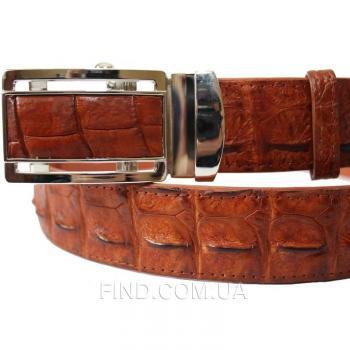 Мужской ремень из кожи крокодила (105 ALB-B Tan)