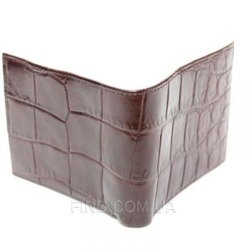 Портмоне из кожи сиамского крокодила (ALM 03 EX Brown)