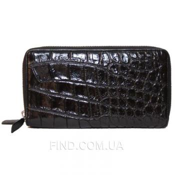 Сумка/кошелёк из кожи крокодила (ZAM 15 B Black)