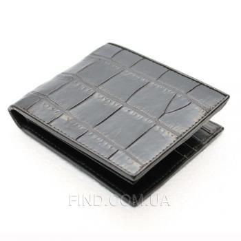 Мужское портмоне из кожи крокодила (ALM 03 B Black)