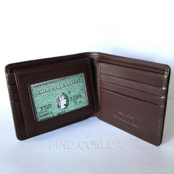 Мужской кошелек из кожи крокодила (ALM 03 B Brown)