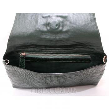 Женская сумка-клатч из кожи крокодила (FCM 320 Emerald Green)