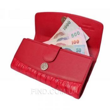 Женский кошелек из кожи крокодила (PCM 03 BT Fire red)