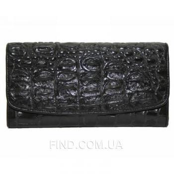 Женский кошелек из кожи крокодила (PCM 03 T Black)