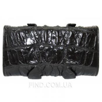 Женский кошелек из кожи крокодила (PCM 03 BT Black)