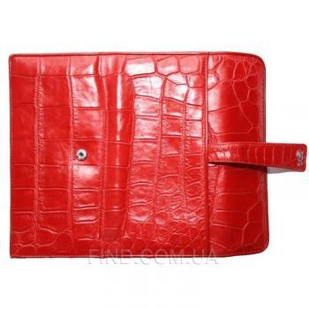 Женский кошелек из кожи крокодила (ALW 09 Red)